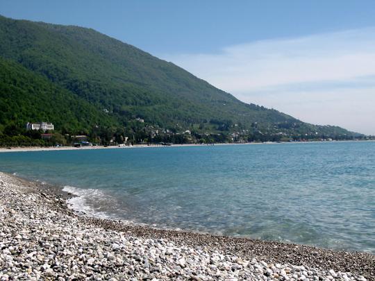 Гагра, пляж