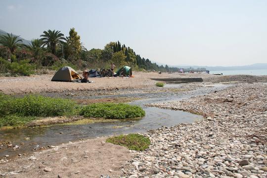 Пляж в Новом Афоне
