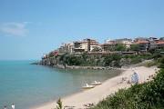 Вид на пляж и новую часть Созопола