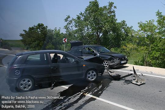 Авария на дороге из Варна-Бургас