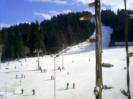 Вид на спуск в Боровце