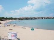 Пляж в Созополе у старого города