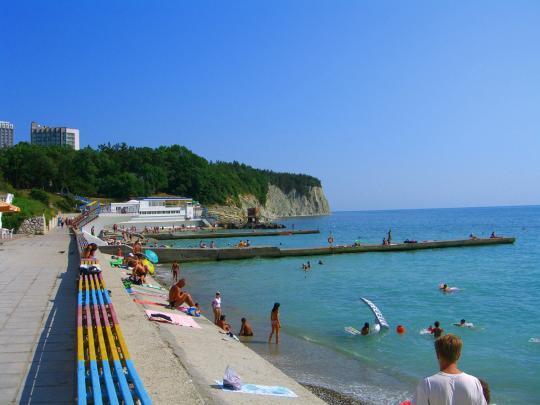 Пляж в Дивноморске