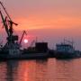 Закат в порту Ейска