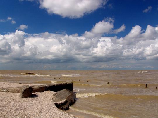 Ейск. Пляж