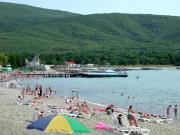 Пирс на пляже в Кабардинке