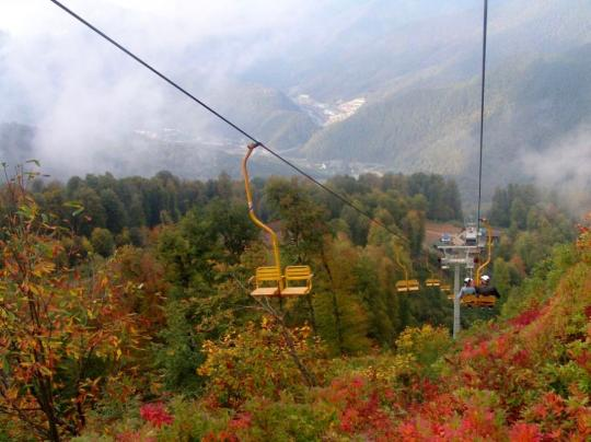 Осень в горах Красной поляны
