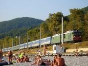 Поезд на пляже