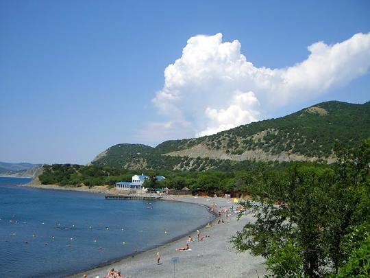 Большой Утриш, пляж