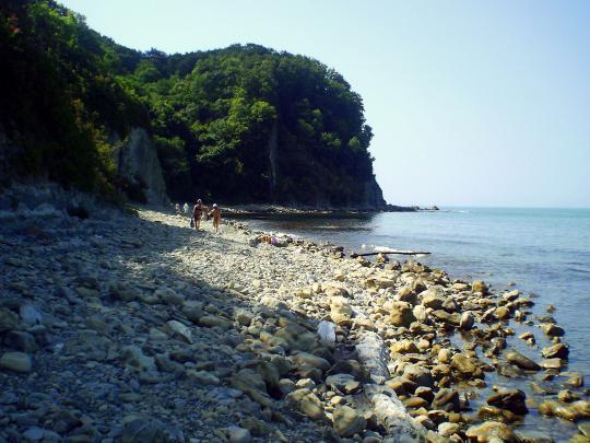 Пляж рядом с Туапсе