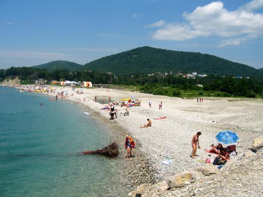 Агой, пляж, рядом Туапсе