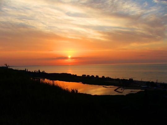 Закат над Голубицкой
