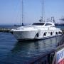 Яхта на причале в Одессе