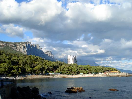 Вид на пляж, Форос